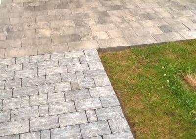 Terrasse paves lisses la foret fouesnant - Maçonnerie paysagère
